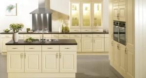 tủ bếp gỗ tự nhiên, tu bep go tu nhien